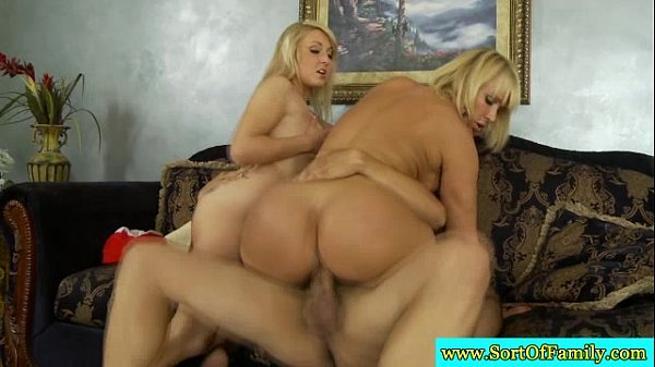 5 Min Real Blonde Stepmom And Stepdaughter Threesome SortOfFamily