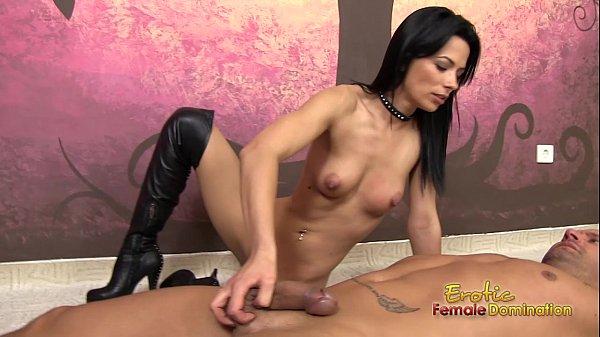 Masturbating with a penis pump clip