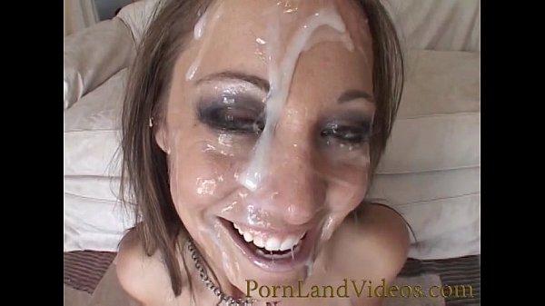 Face full of sperm