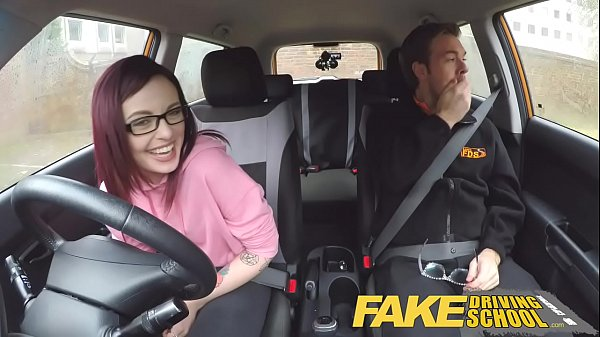 Fake driving school blonde english student deep creampie - 2 part 5