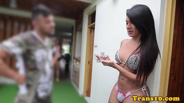 hottie shemale thaissa in an anal sex witha male