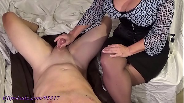 image Busty milf milks young man