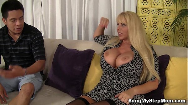 Voluptuous milf has sex with stepson
