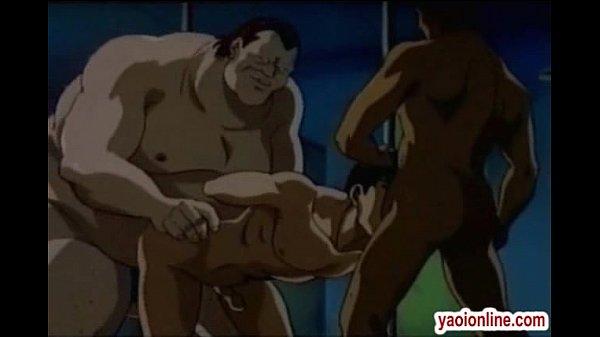 Nasty Threeway Gay Guys Banging