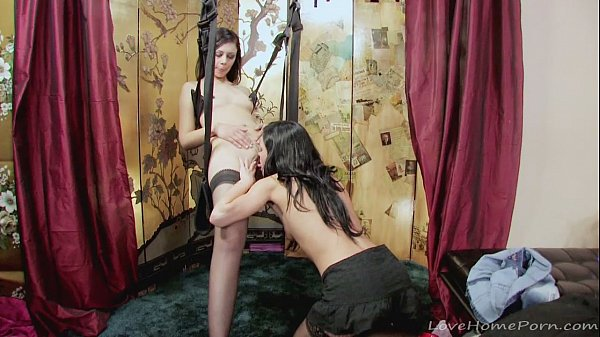 Amazing lesbian couple has some wild fun together