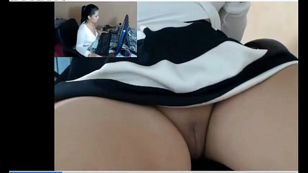 Hidden cam under desk caught great masturbation of my mom 7