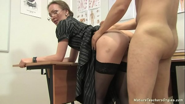 German amateur teacher private lesson cum on mouth an tits 3