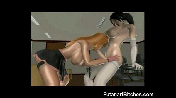 3D Busty Futanari Bitches Fuck Girls!