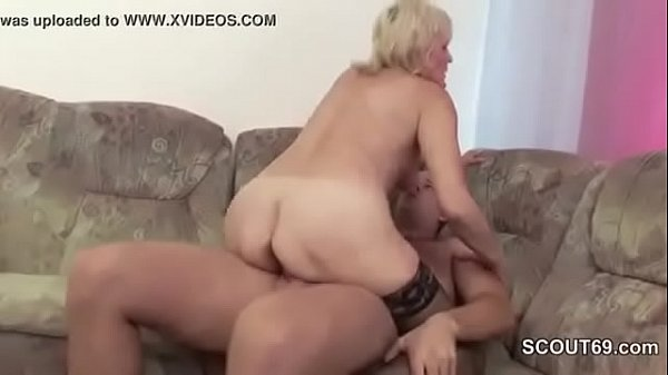 Old blonde seduces not her stepson in law 10