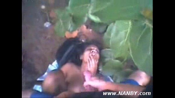 Girl fucking in jungle