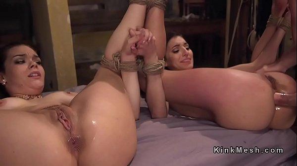 Two Bondage Babes Gets Anal Fucked