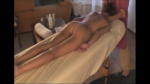 Girl gives massage