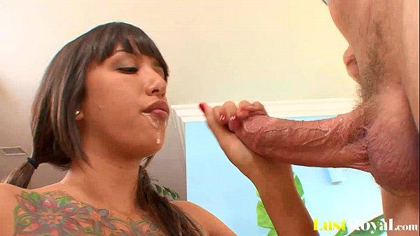 Athletic brunette samora morgan is a hot squirter 6