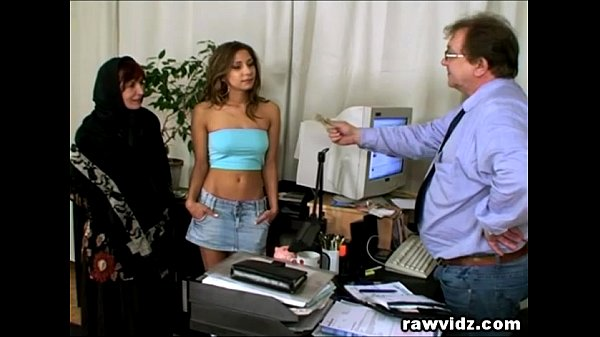 Busty office threesome