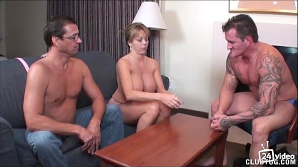 Busty oiled stepmom naked on stage