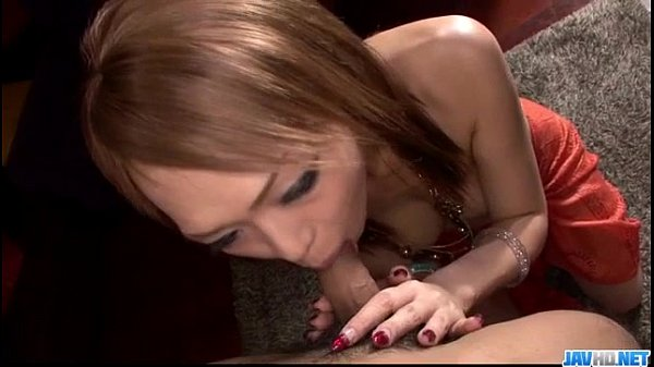 Rina tries cock between her sensual lips 1