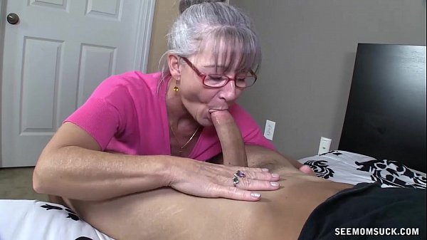 Blonde Mature Sucks Hard Cock