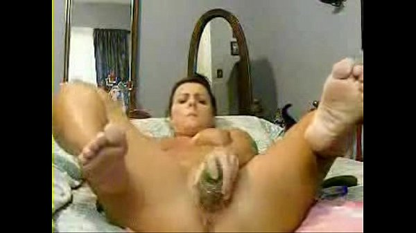 Feet female masturbation caught on tape