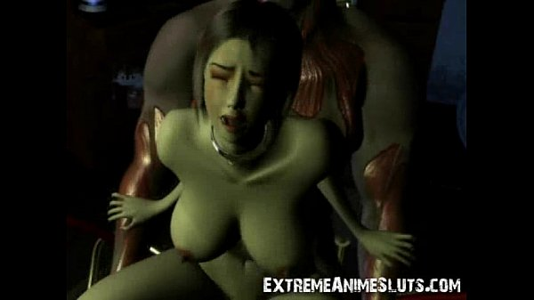 Hot 3d animated blonde rubbing her hairy pussy 6