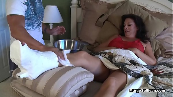 Cheating milf fucks son and his friends when hubbys away