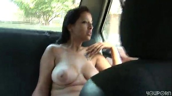 Busty brunette car driving 7