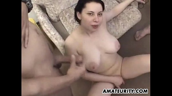 Busty Amateur Teen Girlfriend Homemade Gangbang With -9353