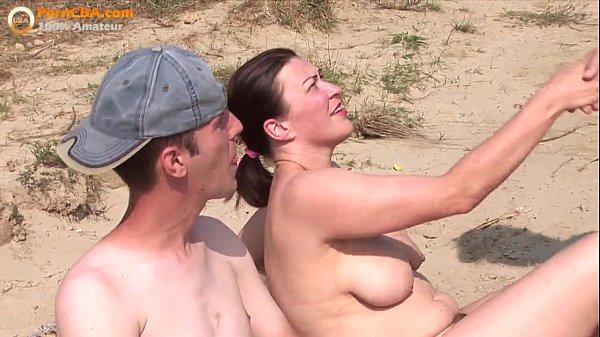 Amateur Beach Threesome