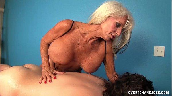 clothed video handjob Older masseuse