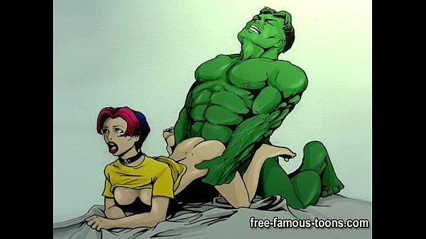 superhero porn cartoons