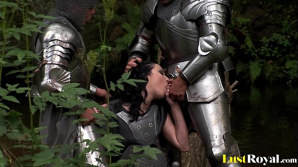Fearless warrior petra stingrey pleasures two cocks