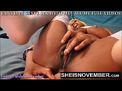 SEXY TEEN BOOTY GAPE OF SHEISNOVEMBER OPENS HER...