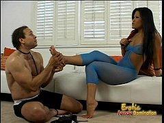 Hot Asian slut Christina Aguchi makes a dude li...
