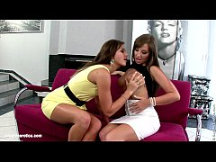 simultaneous climaxers by sapphic erotica - lesbian love porn with natali - cate