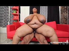Busty Black BBW 46MM Cotton Candi Gets Worked O...