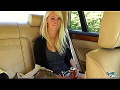 MyFirstPublic Girl leans out car window to suck...