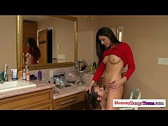 petite cougars threeway with smalltitted teen