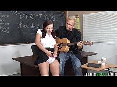 bigtitty brunette schoolgirl riding her profs h...