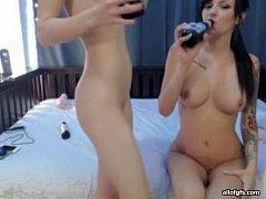 Two flawless webcam girls in the nude - www.fuc...