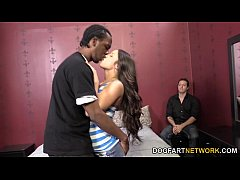 lola foxx gets to fuck a black cock in front of her bf