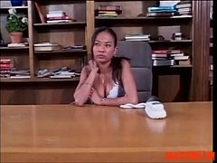 Asian Hotties Using a Strap-on in the Office: F...