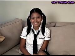 Asian Schoolgirl Striptease - kat young
