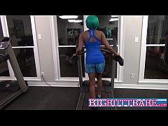 Ebony Teen Public Blowjob In Gym By Rough Stranger