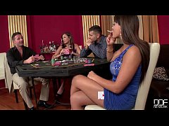 2 casino Hookers get Double Penetrated and Gag ...