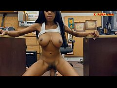 Huge juggs babe pawns her pussy and fucked by p...