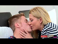 Tight teen Skylar Green crazy 3some with her bf...