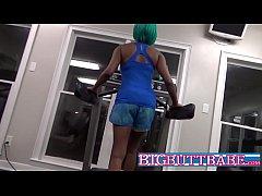 Ebony Deepthroat Public Gym Cock Sucking Teen Babe