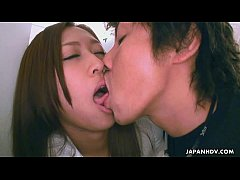 Asian bitch getting her tongue sucked by her man