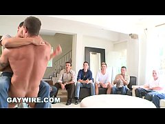 GAYWIRE - Sausage Party Orgy Time with Big Dick Male Strippers!