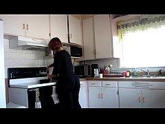 big ass in kitchen