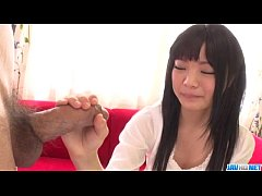 Moka Minaduki gets cum on face after a good blo...